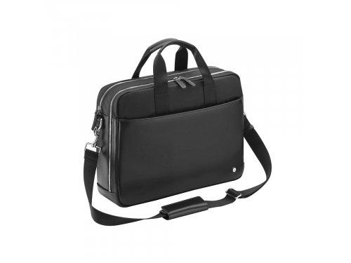 Mercedes Accessories Черная деловая сумка из кожи с отделением для ноутбука 15 дюймов