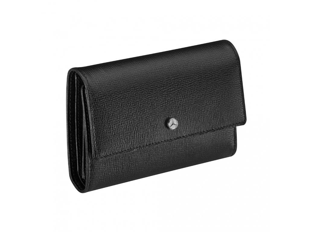 Mercedes Accessories Женский кошелек черного цвета из тисненой кожи с логотипом Mercedes