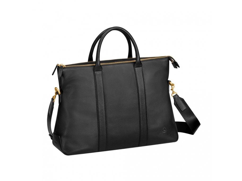 Mercedes Accessories Женская кожаная сумка черного цвета с отделением для ноутбука 15 дюймов