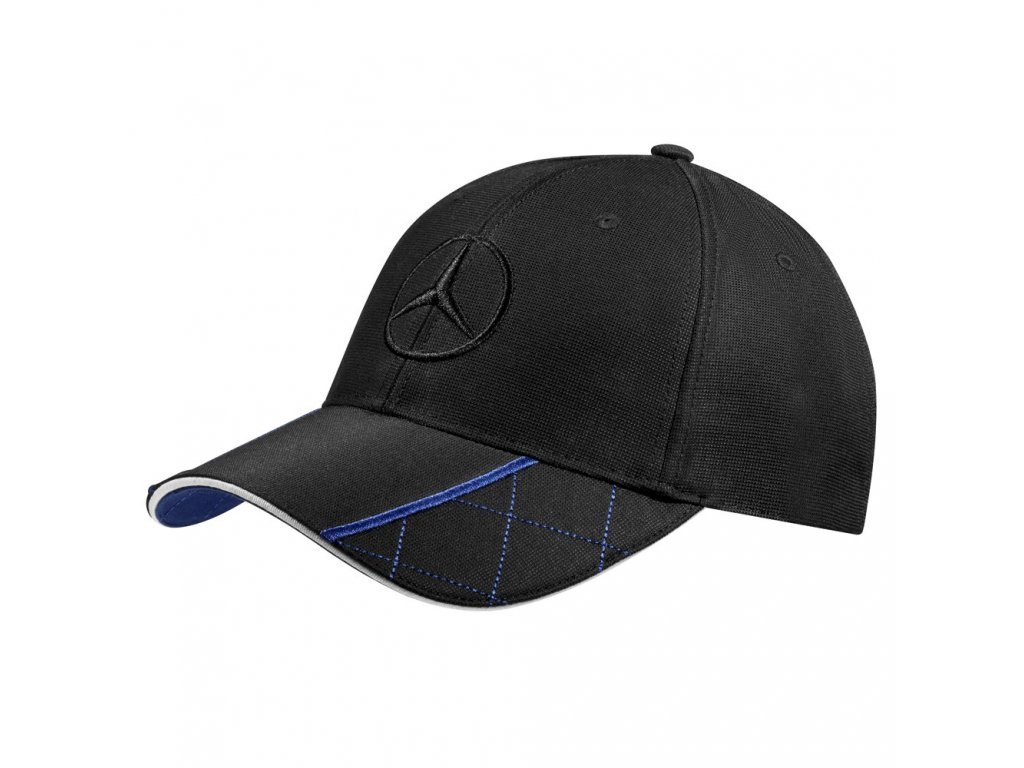 Mercedes Accessories Мужская бейсболка черного цвета, украшенная вышитой звездой Mercedes
