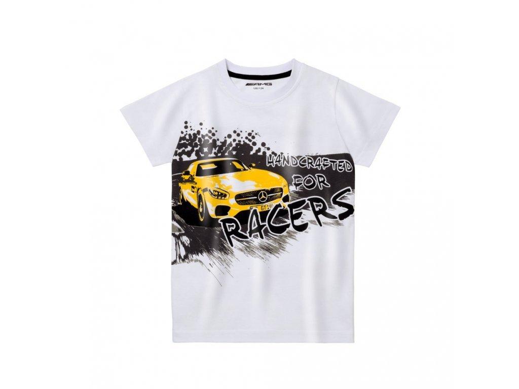 Mercedes Accessories Детская хлопковая футболка белого цвета с изображением автомобиля Mercedes-AMG GT