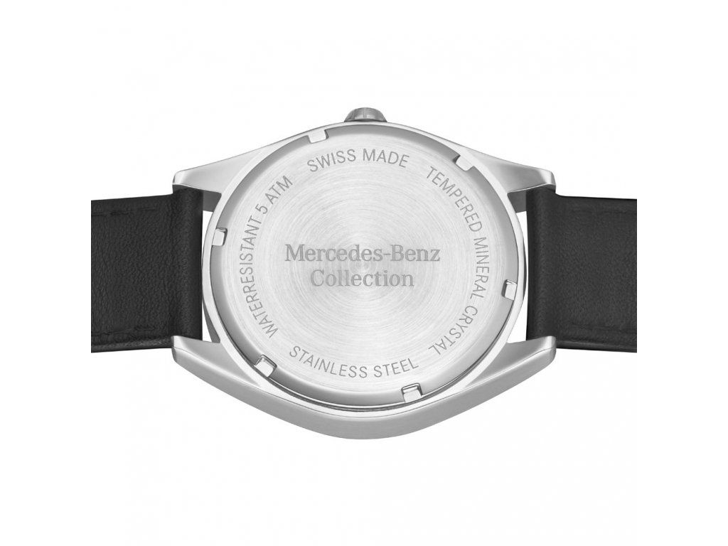 Mercedes Accessories Мужские наручные часы серебристо-черного цвета с звездой Mercedes на циферблате