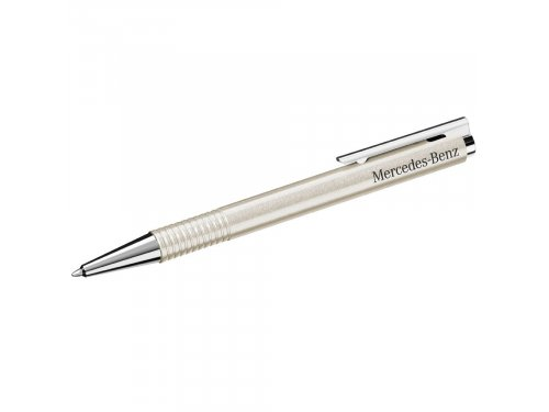 Mercedes Accessories Шариковая ручка из нержавеющей стали цвета белый бриллиант с гравировкой