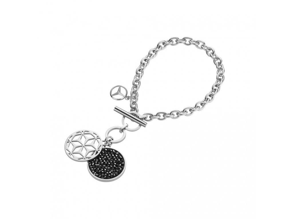 Mercedes Accessories Женский браслет из нержавеющей стали с подвесками и кристаллами Swarovski