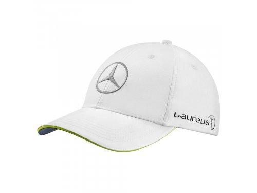 Mercedes Accessories Бейсболка белого цвета, украшенная вышитой серебристой звездой Mercedes-Benz