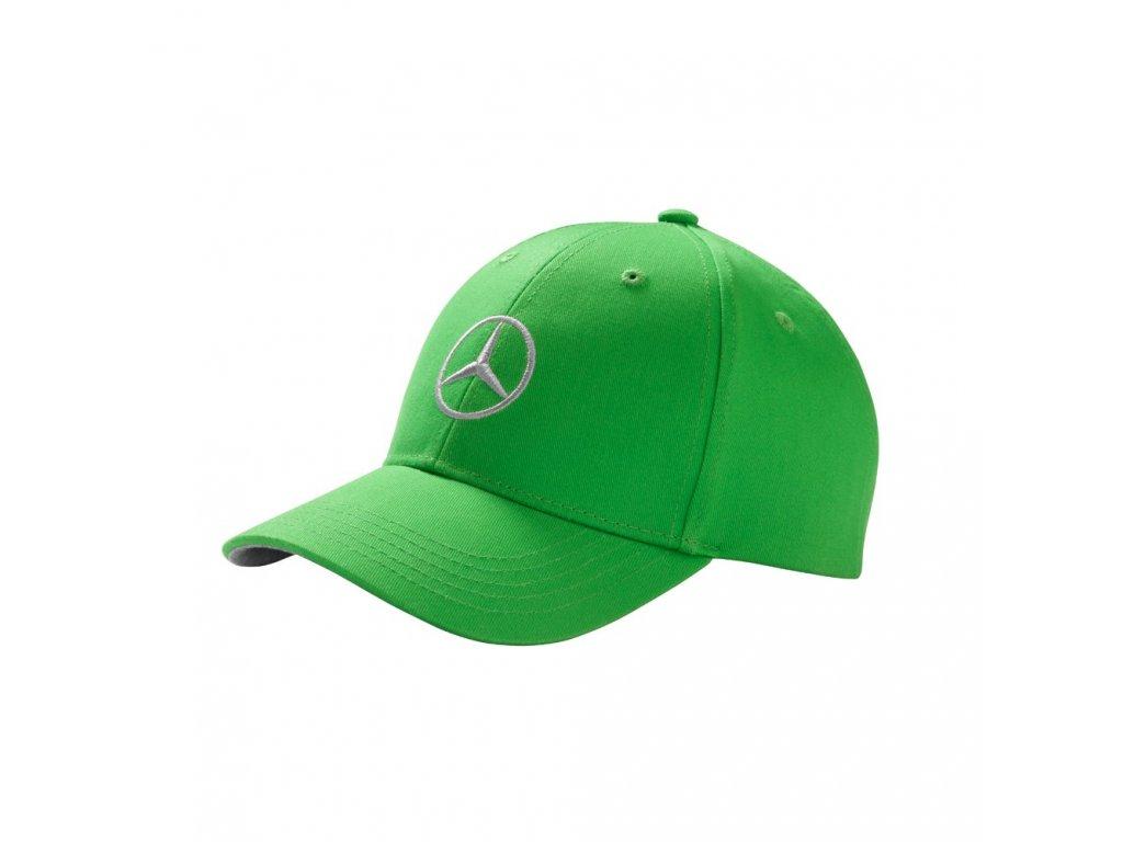 Mercedes Accessories Детская бейсболка зеленого цвета, украшенная вышитой серебристой звездой Mercedes-Benz
