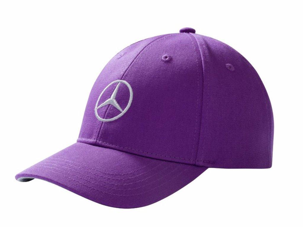 Mercedes Accessories Детская бейсболка лилового цвета, украшенная вышитой серебристой звездой Mercedes-Benz