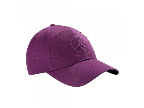 Mercedes Accessories Женская бейсболка лилового цвета со звездой Mercedes-Benz и кристаллами Swarovski