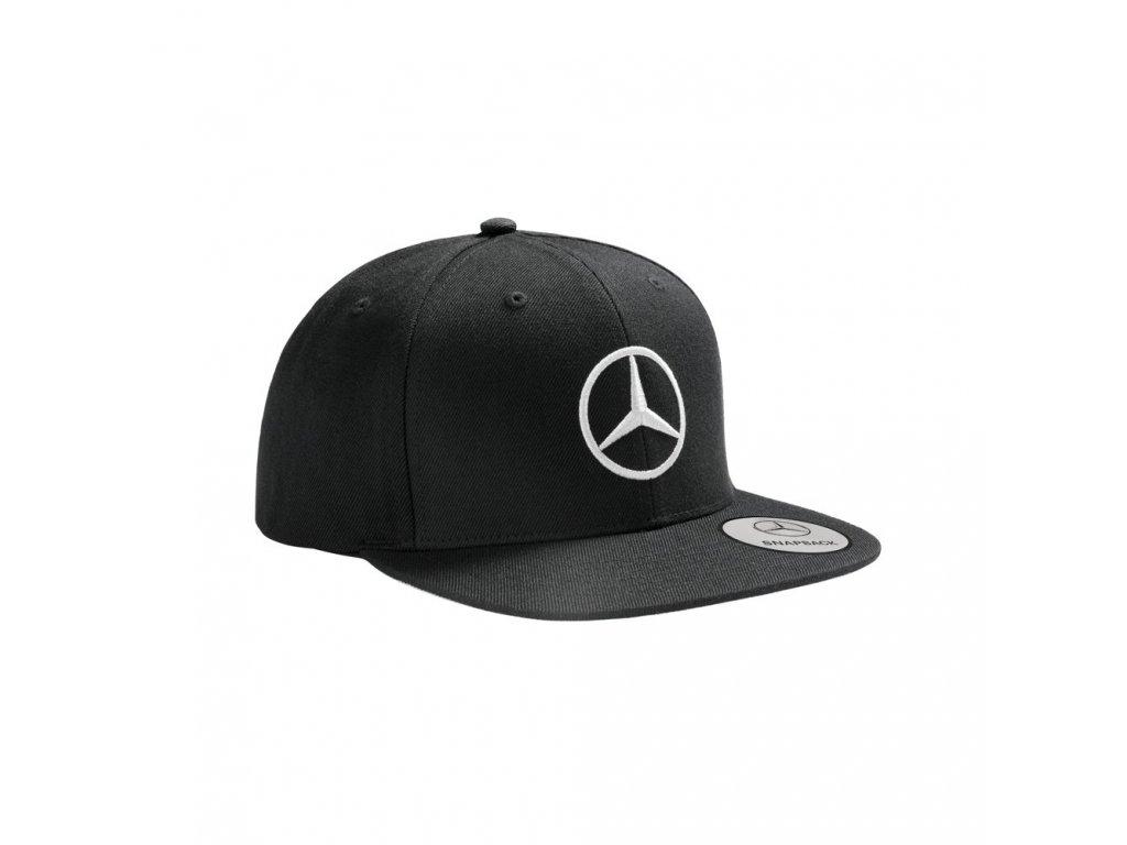 Mercedes Accessories Мужская бейсболка с плоским козырьком, украшенная серебристой звездой Mercedes-Benz