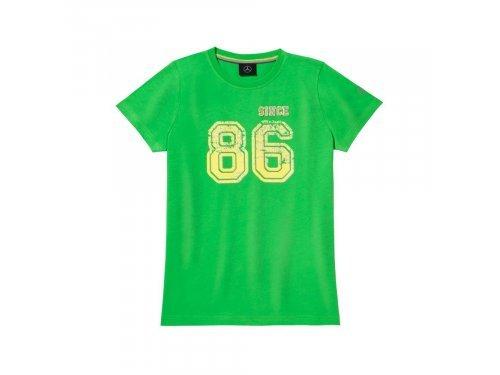 Mercedes Accessories Футболка детская зеленого цвета с принтом