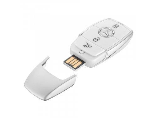 Mercedes Accessories USB-накопитель 8ГБ белого цвета в форме нового ключа от автомобиля Mercedes