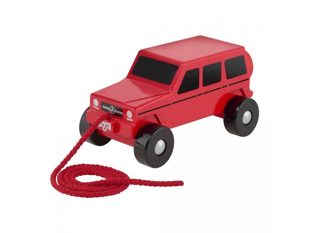 Mercedes Accessories Деревянный игрушечный автомобиль со шнурком красного цвета Mercedes G-Класс