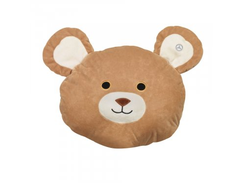 Mercedes Accessories Детское одеяло-подушка в форме головы медведя бежевого цвета