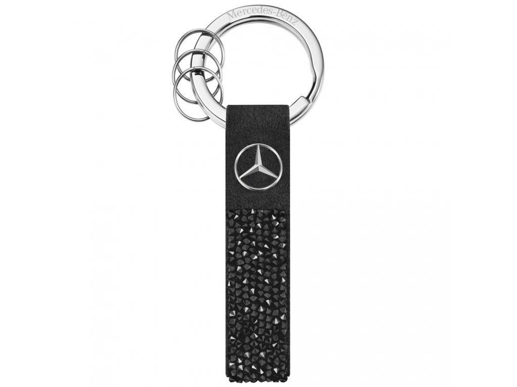 Mercedes Accessories Брелок для ключей черно-серебристого цвета, украшенный кристаллами Swarovski