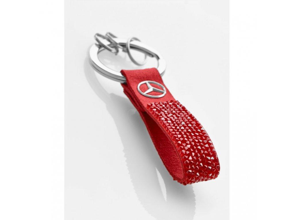 Mercedes Accessories Брелок для ключей красно-серебристого цвета, украшенный кристаллами Swarovski