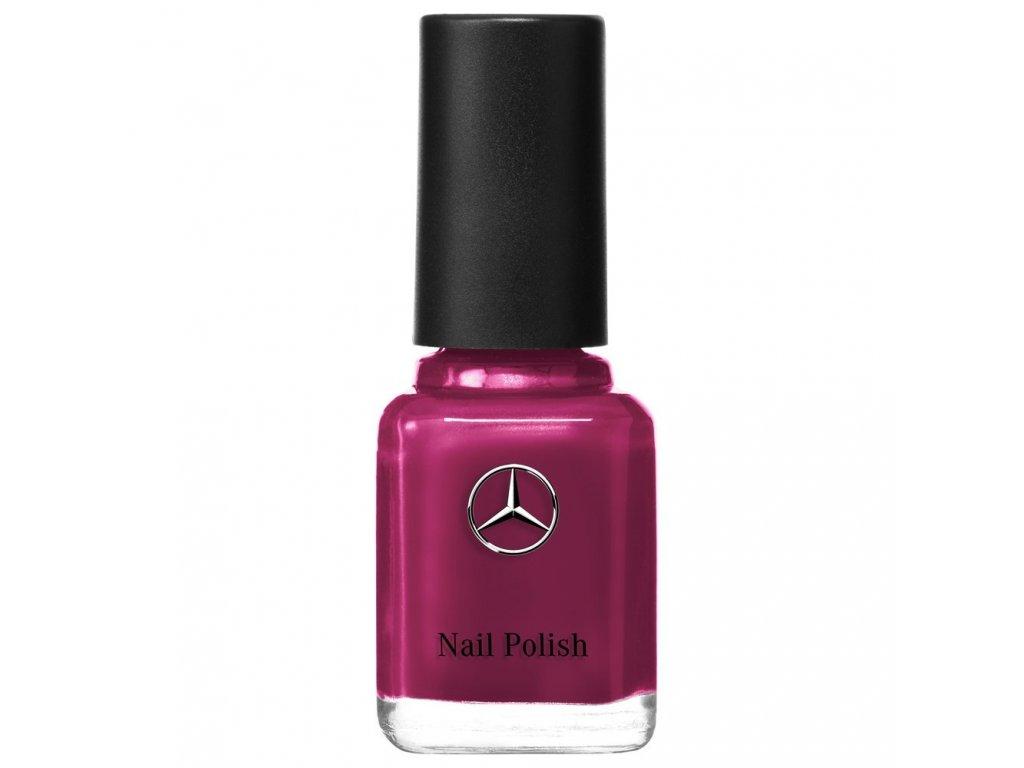 Mercedes Accessories Женский лак для ногтей сливового цвета с серебристой звездой Mercedes-Benz на флаконе