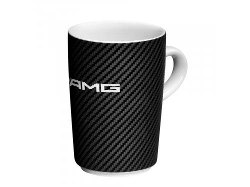 Mercedes Accessories Фарфоровая кружка черно-белого цвета с декором в стиле карбон и логотипом Mercedes-AMG