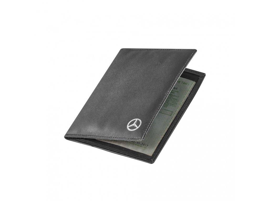 Mercedes Accessories Обложка для автомобильных документов из черной искусственной кожи со звездой Mercedes