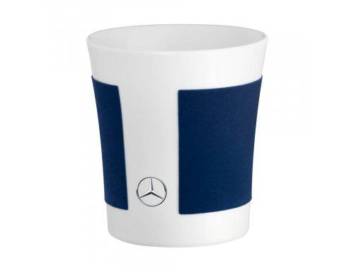 Mercedes Accessories Фарфоровая кружка с декором цвета синий бриллиант и звездой Mercedes-Benz