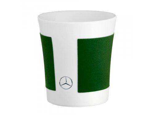Mercedes Accessories Фарфоровая кружка с декором цвета зеленый эльбаит и звездой Mercedes-Benz
