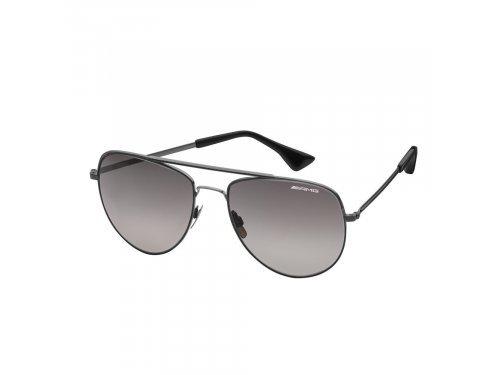 Mercedes Accessories Солнцезащитные очки в стальной оправе черного цвета с логотипом Mercedes-AMG