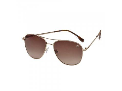 Mercedes Accessories Женские солнцезащитные очки в деловом стиле с золотистой стальной оправой