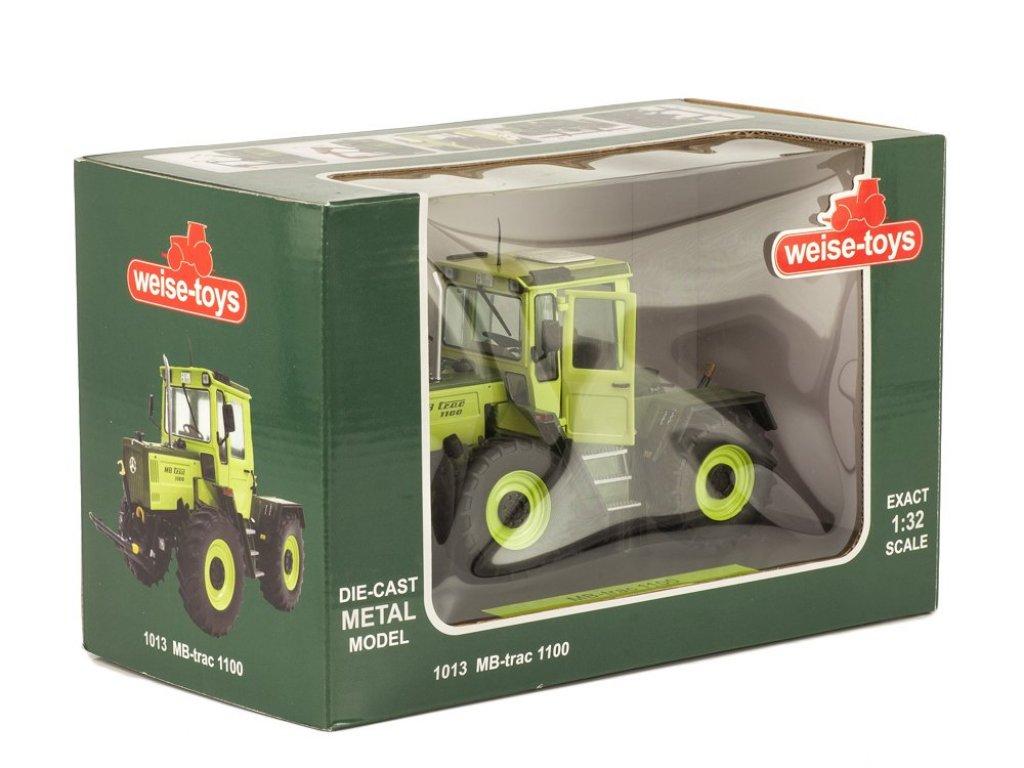 1:32 Weise Mercedes-Benz MB Trac 1100 трактор 1987 зеленый