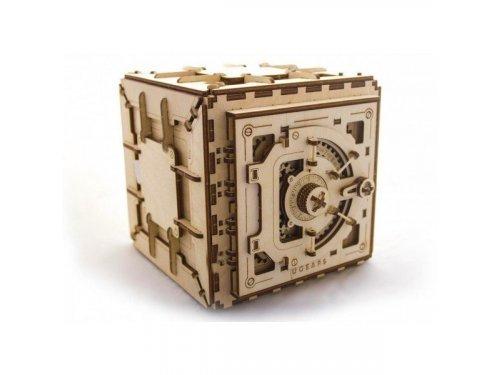 UGears Деревянный сейф с механическим кодовым замком