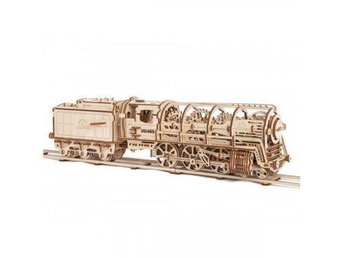 UGears Деревянный самоходный локомотив с полноценным кулисным механизмом