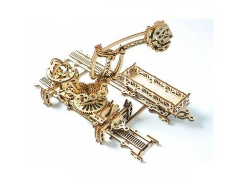 UGears Деревянный механический манипулятор с рельсами и дополнительными аксессуарами