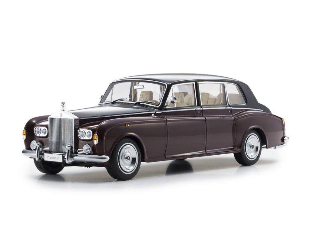 1:18 Kyosho Rolls-Royce Phantom VI бордовый с черным