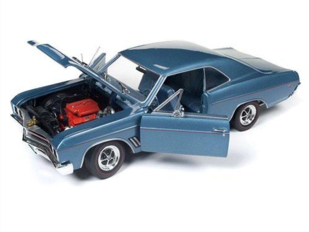 1:18 Auto World Buick GS Hardtop 1967 голубой металлик + аналогичная модель 1/64 (набор)