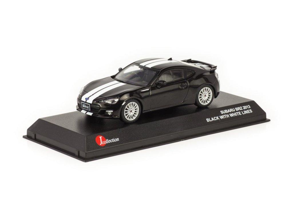 1:43 J-Collection Subaru BRZ черный с белой полосой