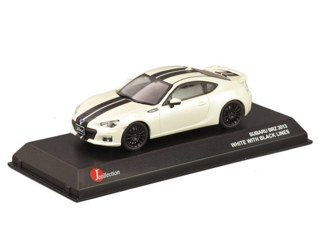 1:43 J-Collection Subaru BRZ белый с черной полосой
