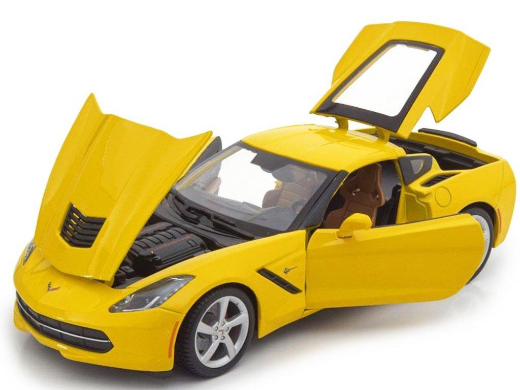 1:18 Maisto Chevrolet Corvette Stingray 2014 желтый