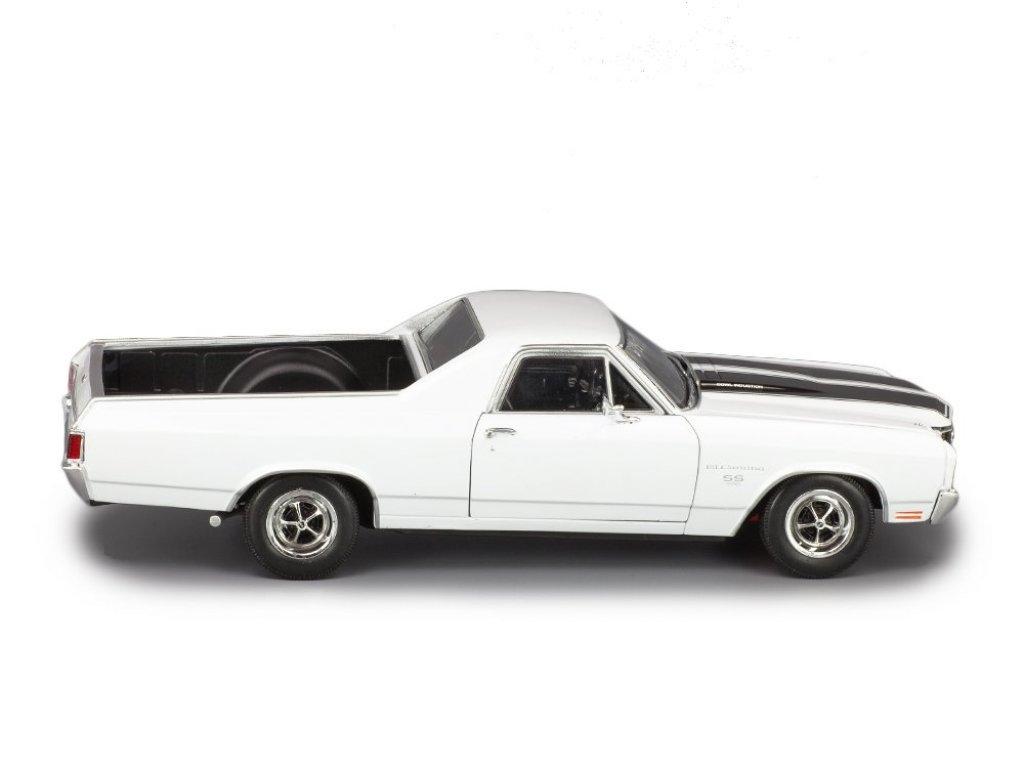 1:18 Welly Chevrolet El Camino 1970 белый с черными полосками