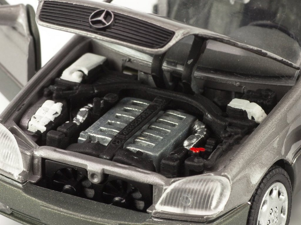 1:43 Schabak Mercedes-Benz 600SEC (S600 Coupe) C140 (W140) 1993 серебристый