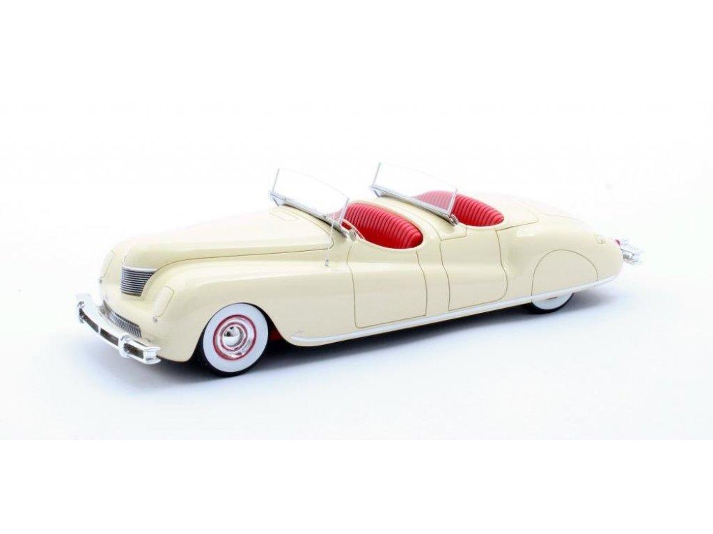 1:43 Matrix Chrysler Newport Dual Cowl Phaeton LeBaron 1941 кремовый с красным салоном