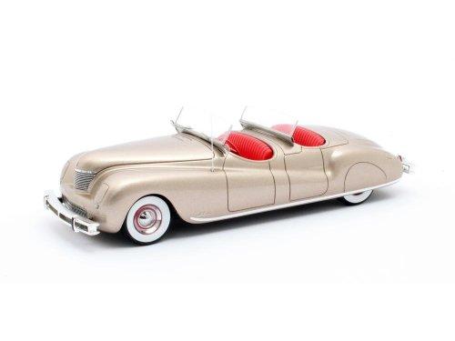 1:43 Matrix Chrysler Newport Dual Cowl Phaeton LeBaron 1941 золотистый с красным салоном