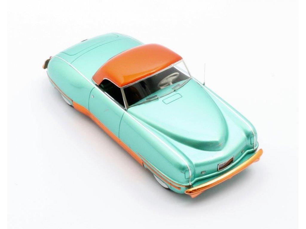 1:43 Matrix Chrysler Thunderbolt Concept LeBaron (закрытый) 1941 зеленый металлик с оранжевым