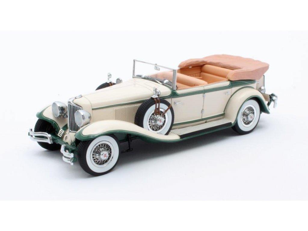 1:43 Matrix Cord L-29 Phaeton Sedan (открытый) 1931 бежевый с зеленым