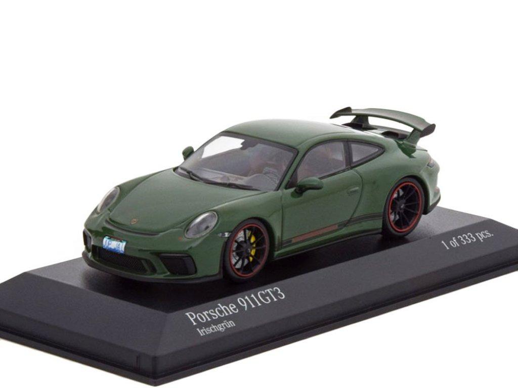 1:43 Minichamps Porsche 911 GT3 2017 зеленый