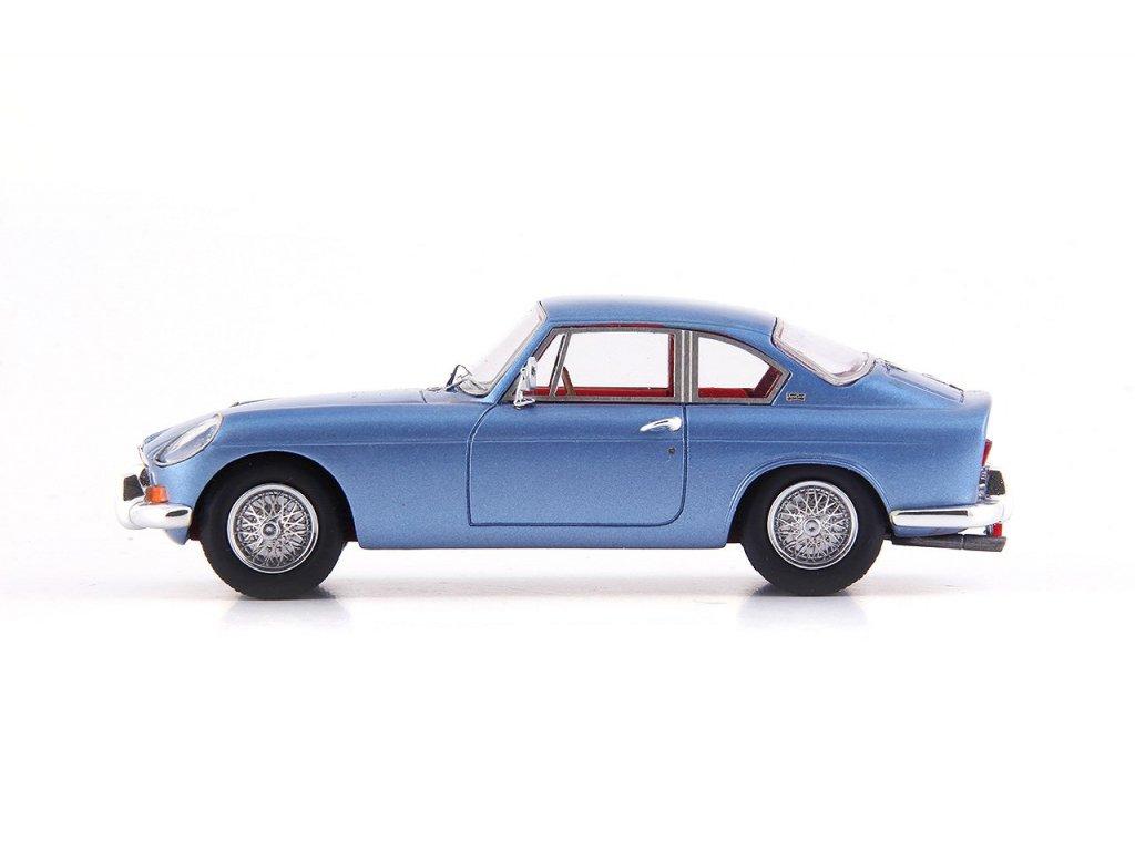 1:43 AutoCult MG B Jaques Coune 1964 голубой с красным салоном