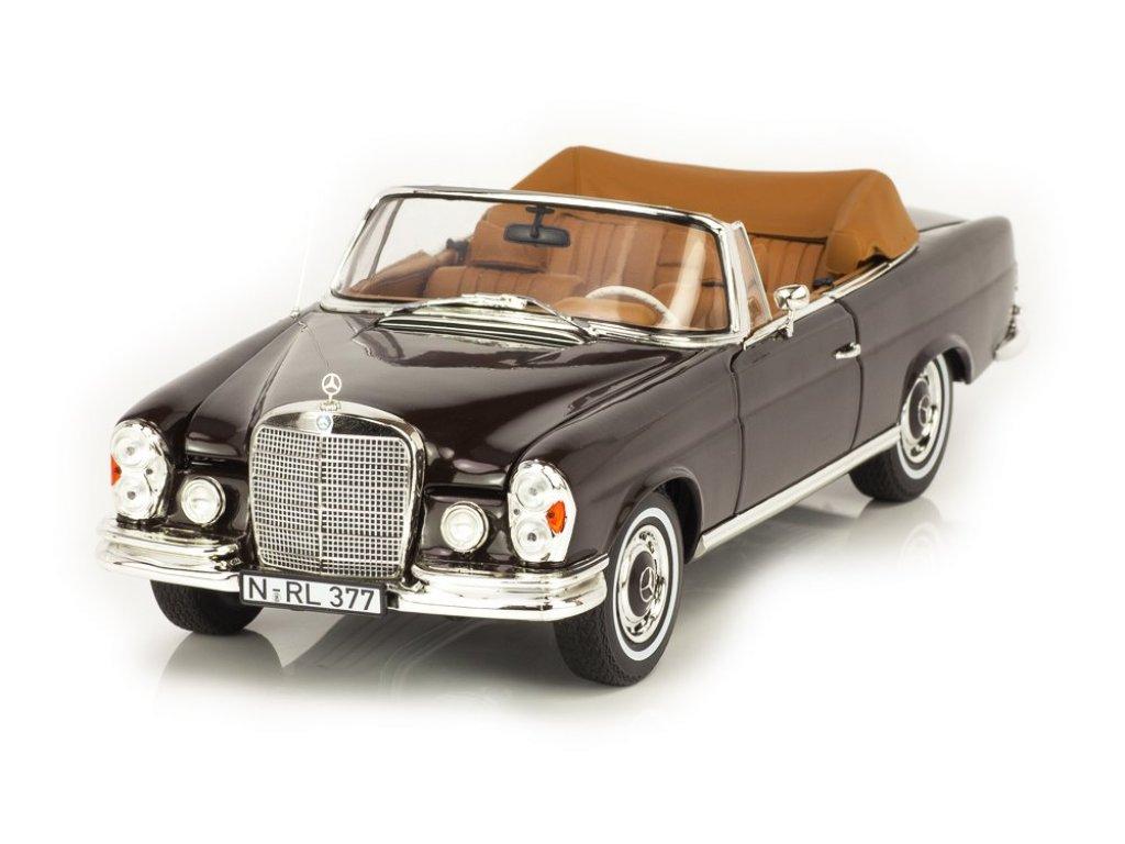 1:18 Norev Mercedes-Benz 280 SE Cabriolet (W111) 1969 коричневый