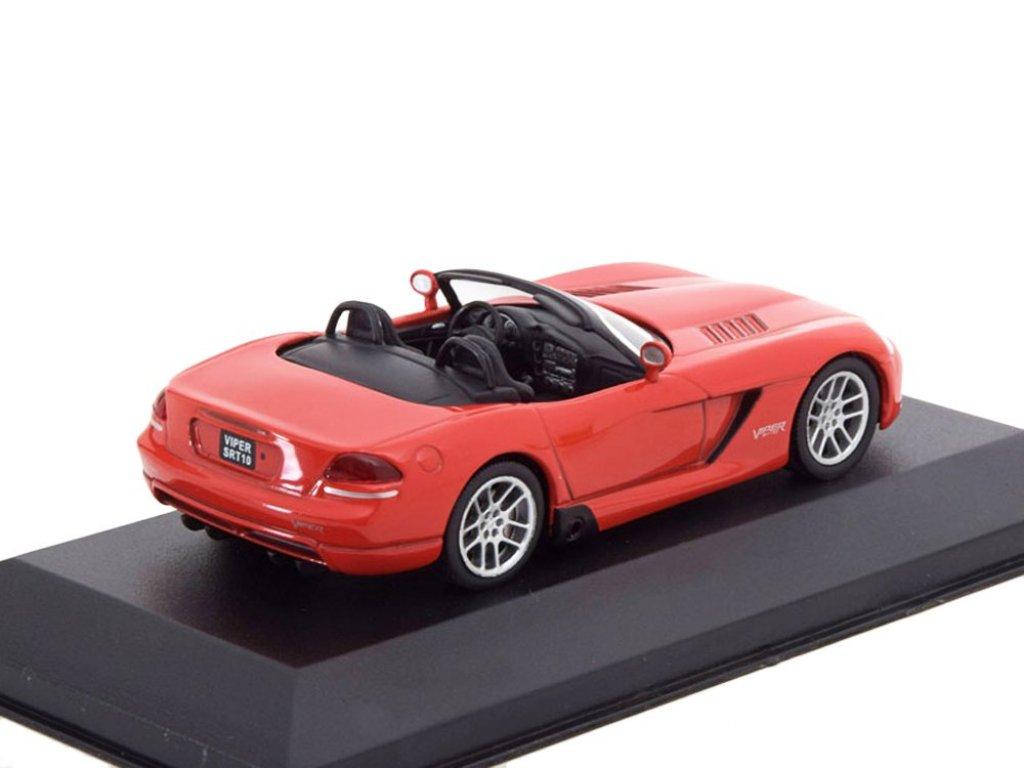 1:43 Atlas Dodge Viper SRT-10 2003 родстер красный