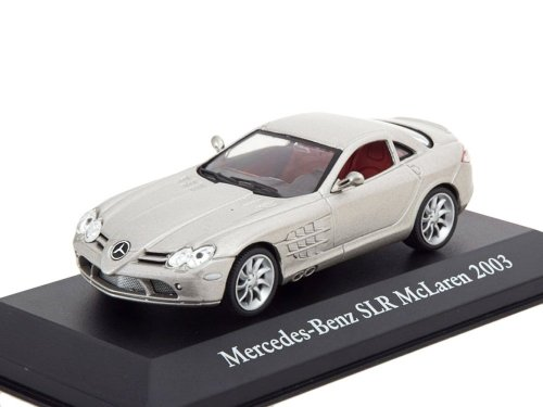 1:43 Atlas Mercedes-Benz SLR McLaren C199 2003 серебристый