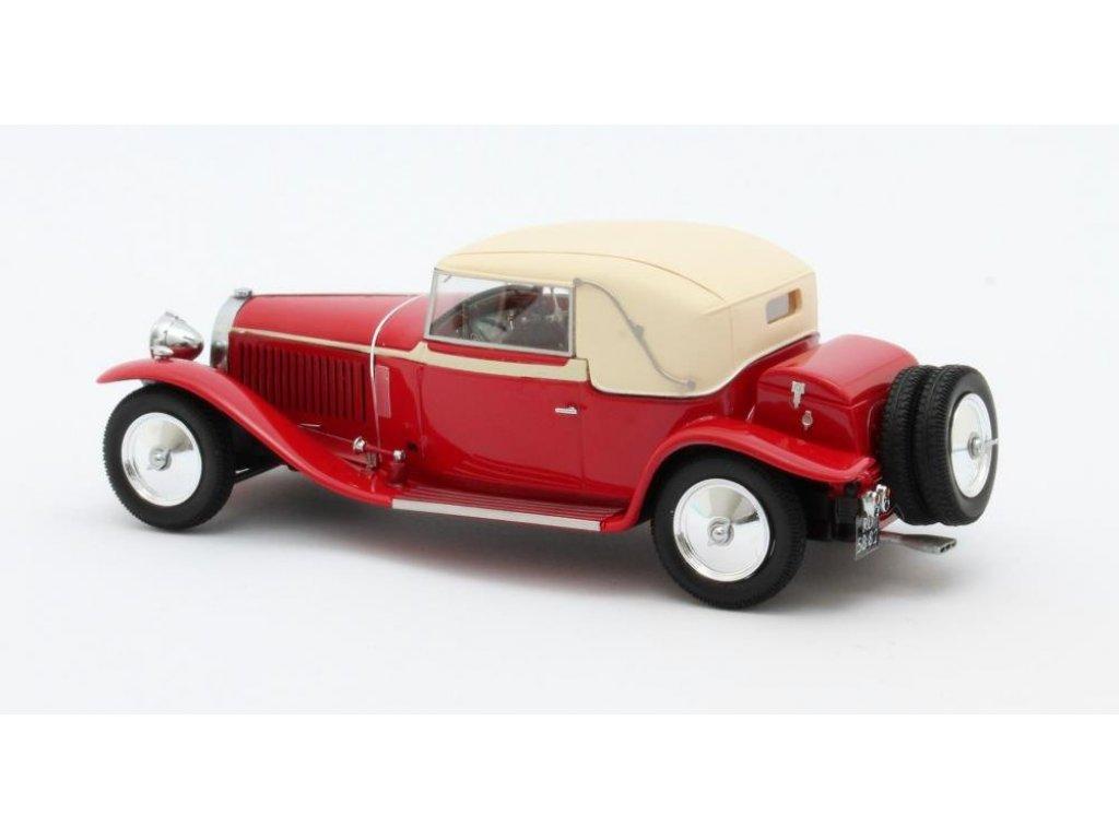 1:43 Matrix Bugatti Type 46 Faux Cabriolet Veth & Zoon 1930 красным с бежевым верхом