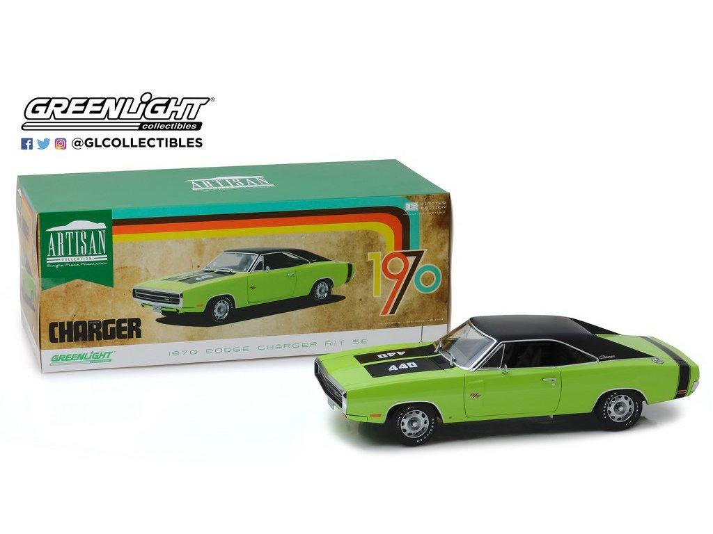 1:18 GreenLight Dodge Charger R/T SE 440 1970 зеленый лайм