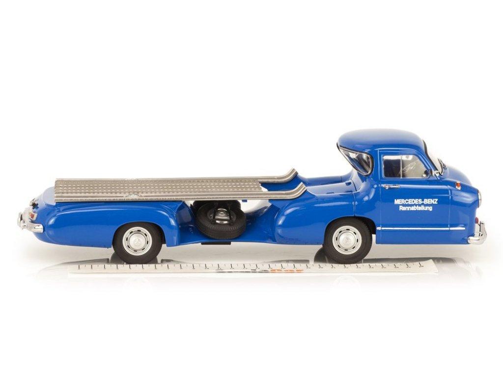 1:18 I-Scale Mercedes-Benz Renntransporter (Das Blau Wunder) синий