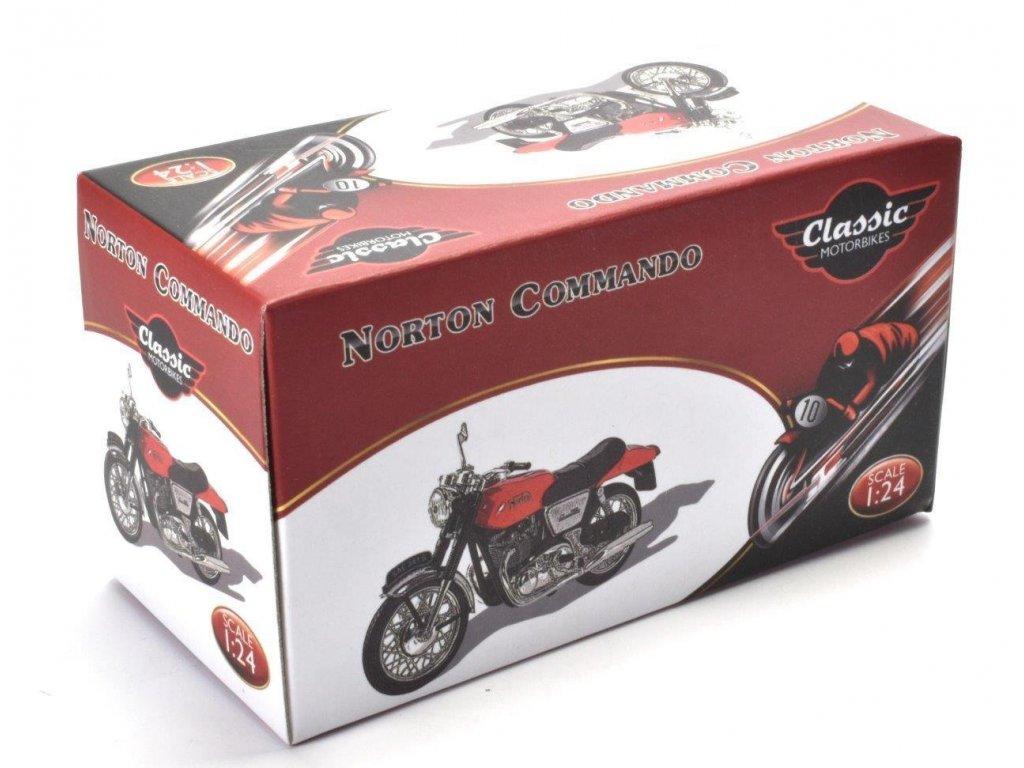 1:24 Atlas мотоцикл Norton Commando 750 1969 красный